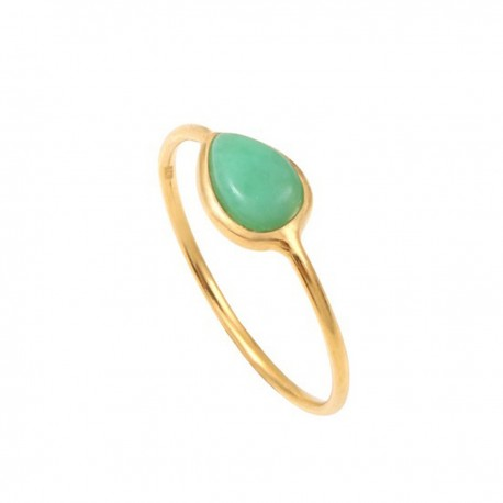 Ella ring met Chrysoprase