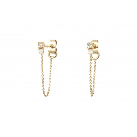 Amants earrings with chain