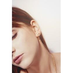 Amants oorbellen met ketting