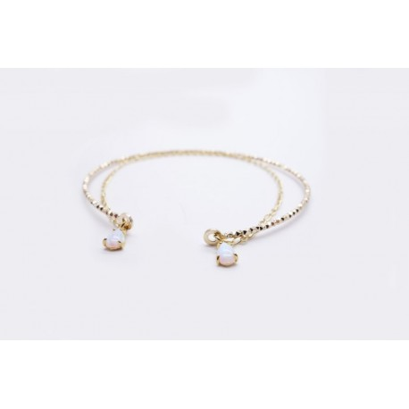 Cuff bracelet with opal