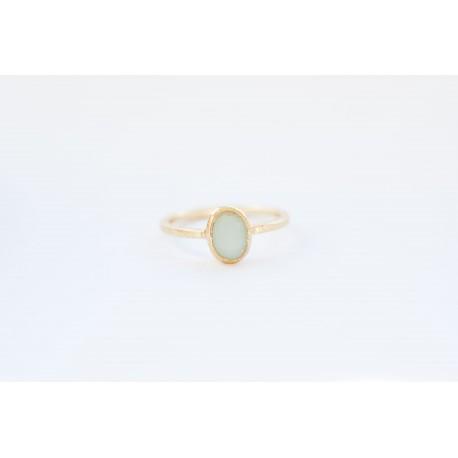 Ring met turquoise steen