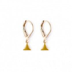 Earrings Fanion - olive green