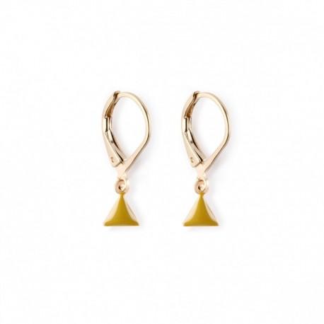 Earrings Fanion - olive green