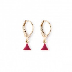 Earrings Fanion - burgundy