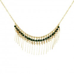 Necklace Gloria - dark green
