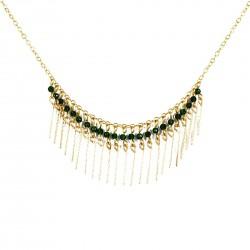 Necklace Gloria - dark green