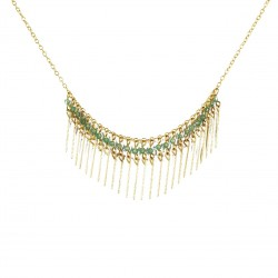Necklace Gloria - light green