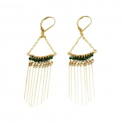 Earrings Gloria - dark green