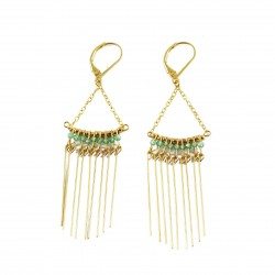 Earrings Gloria - light green
