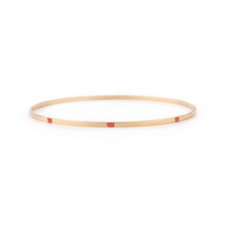 Dunne armband Majorelle - koraalroze