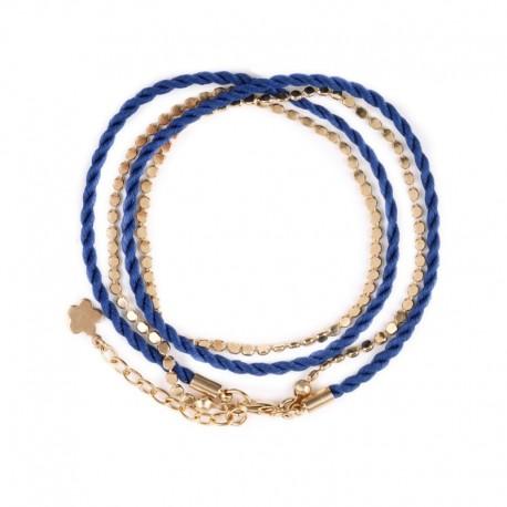 Dubbele armband Martine - marineblauw