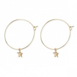 Hoop earrings Star