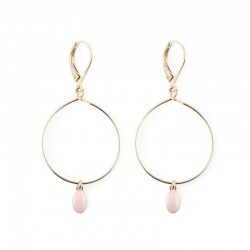 Earrings Plumette - blush pink