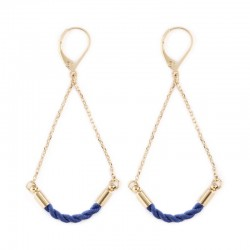 Earrings Martine - navy