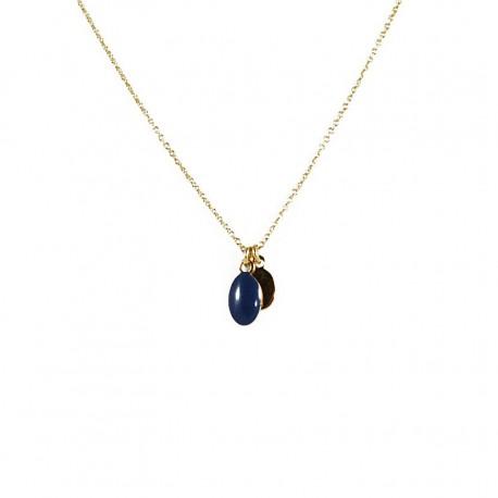 Necklace Medal - midnight blue