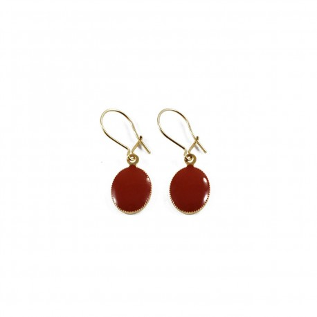 Earrings Lovebirds - brown