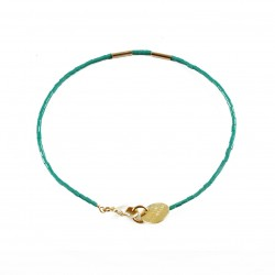 Bracelet Golden Teal - teal
