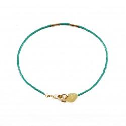 Bracelet Golden Teal - teal