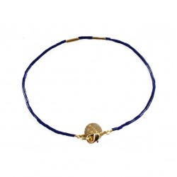 Armband Golden Teal - marineblauw