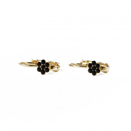 Earrings Blossom - black