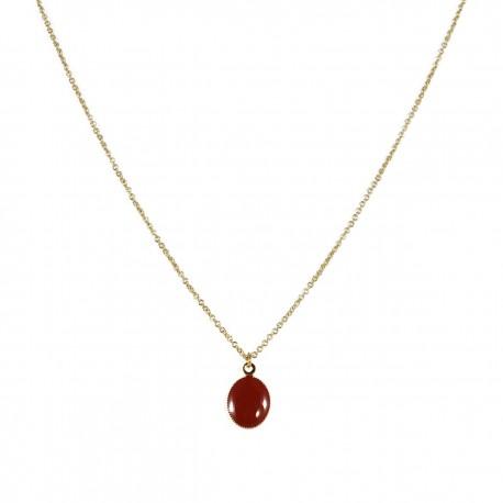 Necklace Lovebirds - brown
