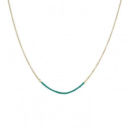 Halsketting Teal - blauwgroen