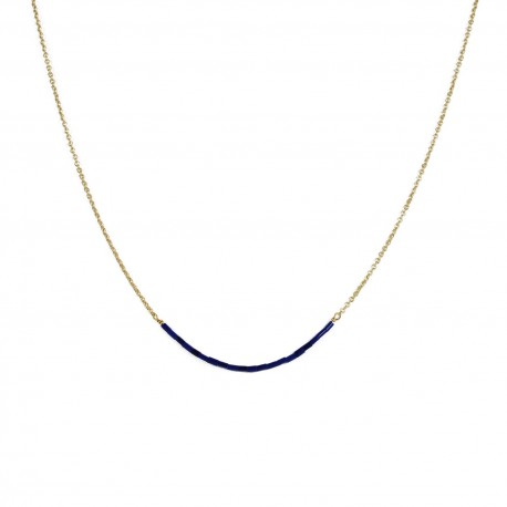Necklace Teal - navy