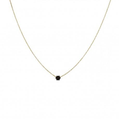 Halsketting Blossom - zwart