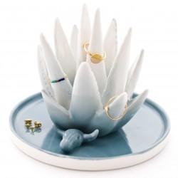 Aloë vera juwelenhouder - ombre blauw