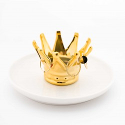Crown ring holder - gold
