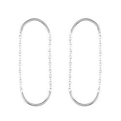 Earrings Double unity circle