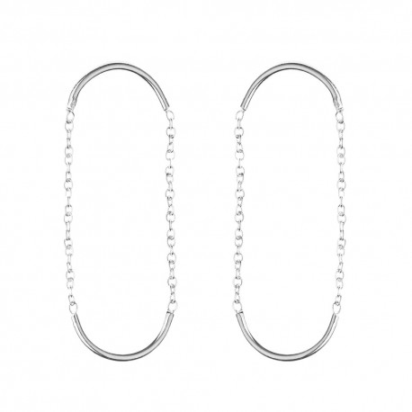 Double unity circle earrings